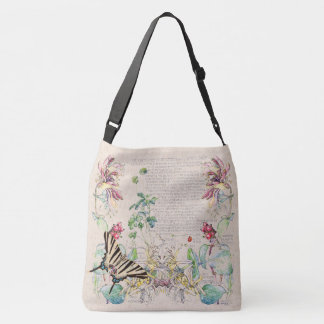 Mullein Butterfly Honeysuckle Flowers Tote Bag