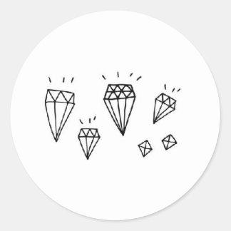 müller magpie classic round sticker