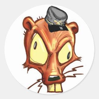 Mullet-Rebel Round Sticker