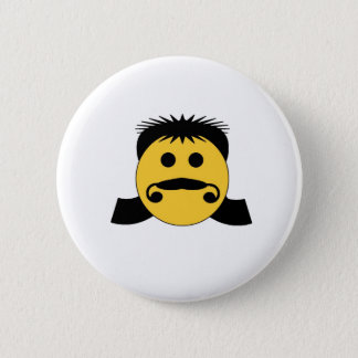 Mullet Smiley 2 Inch Round Button