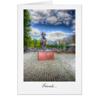 Mulltatuli Statue, Amsterdam - Friends Card