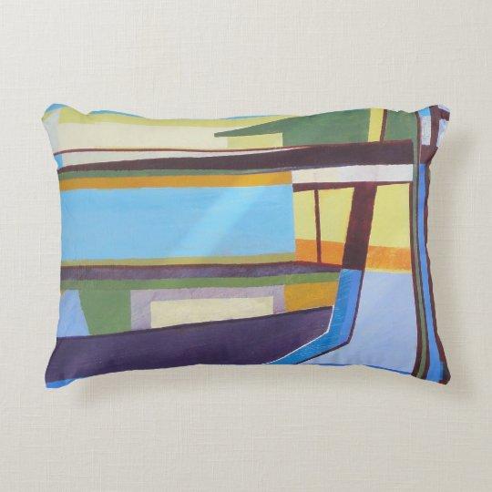 Multi Blue Accent Pillow