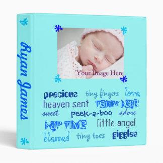 Multi-Blue Boys Baby Book 3 Ring Binders