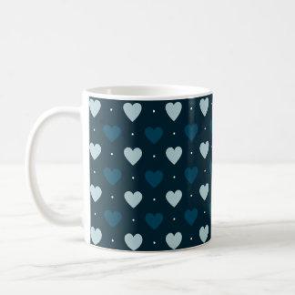 Multi-Blue Hearts Coffee Mug