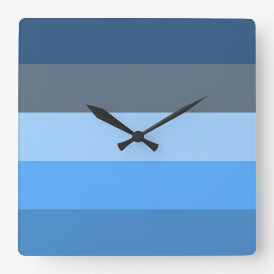 Multi-Blue Wall Clock