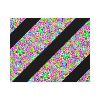 Multi-color 3-d polygon striped pattern canvas print