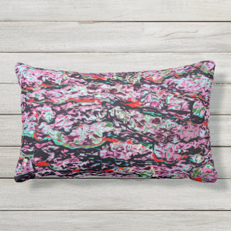 Multi-Color Abstract Pattern Outdoor Pillow