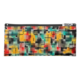 Multi-Color Abstract Pattern Pencil Case