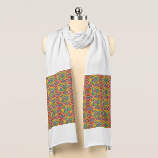Multi-Color Abstract Print Jersey Scarf