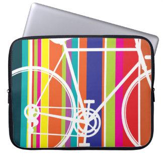 multi color bike design Laptop Sleeve