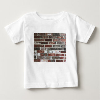 Multi color brick wall with reds, whites and brown baby T-Shirt
