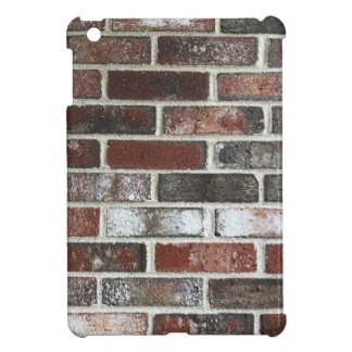 Multi color brick wall with reds, whites and brown iPad mini cases