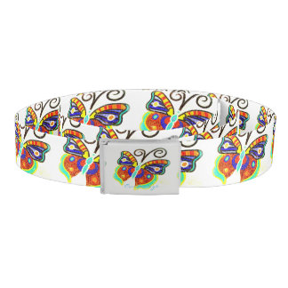 Multi-color butterflies any background color belt