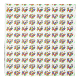 Multi-color butterfly any background Thunder_Cove Duvet Cover