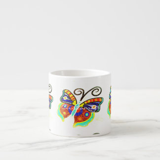 Multi-color butterfly any background Thunder_Cove Espresso Cup