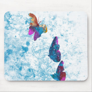 Multi Color Butterfly Mouse Pad