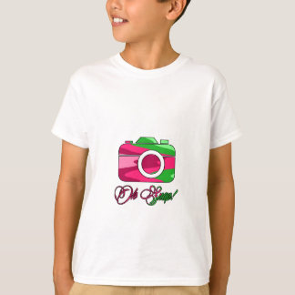 Multi Color Camera Oh Snap T-Shirt