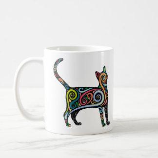 MULTI COLOR CAT COFFEE MUG