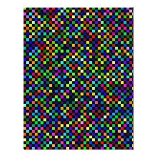 Multi Color Checker Pattern Letterhead Design