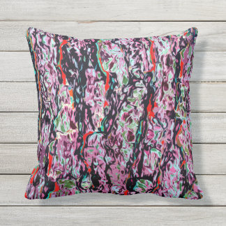 Multi-Color Chic Abstract Pattern Throw Pillow