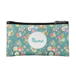 Multi Color Circles Personalized Cosmetic Bag
