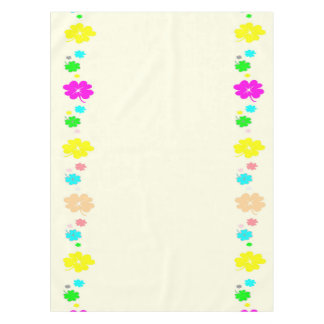 Multi Color Clover Leaves Cotton Tablecloth, Tablecloth