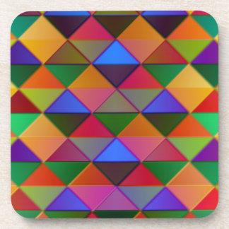 multi-color diamonds beverage coasters