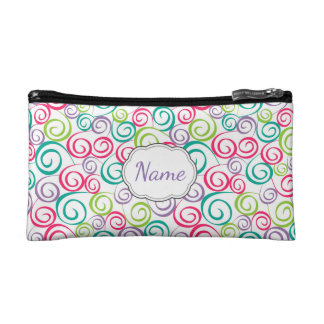 Multi Color Doodle Personalized Cosmetic Bag