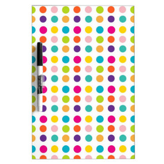 Multi Color Dots Dry-Erase Whiteboard