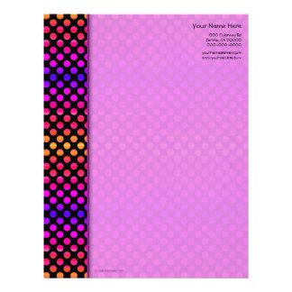 Multi-color Dots Letterhead