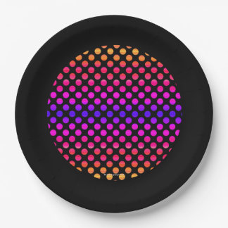 Multi-color Dots Paper Plate