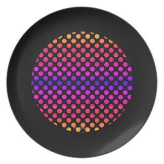 Multi-color Dots Plate