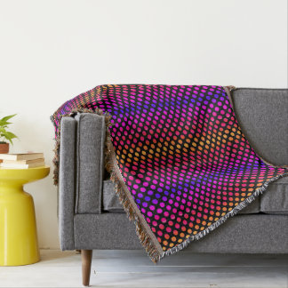 Multi-color Dots Throw Blanket