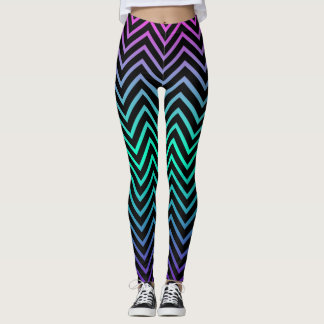 Multi-Color Fade Zigzag Leggings
