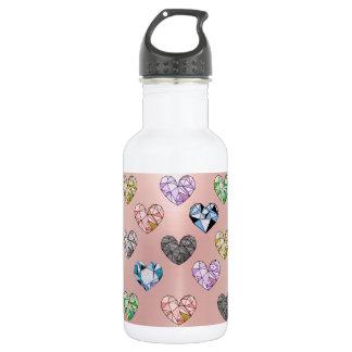 Multi color,gemstone,rose gold,modern,trendy,glam, 532 ml water bottle