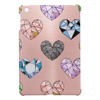 Multi color,gemstone,rose gold,modern,trendy,glam, cover for the iPad mini