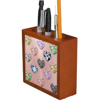 Multi color,gemstone,rose gold,modern,trendy,glam, desk organizer