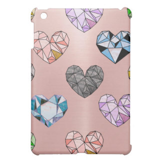 Multi color,gemstone,rose gold,modern,trendy,glam, iPad mini covers
