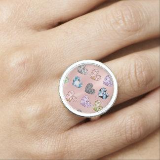 Multi color,gemstone,rose gold,modern,trendy,glam, ring