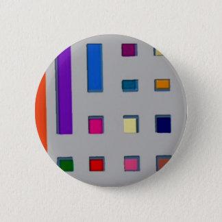 Multi color geometric 2 inch round button