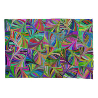 Multi-Color Geometric Design Pair of Pillowcases