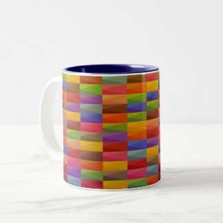 Multi-Color Geometric Design Two-Tone Mug