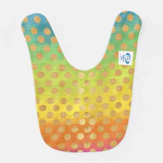 multi color gold polka dot elegant chic trendy fun baby bibs