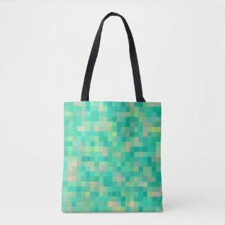 Multi-Color Green Pattern Tote Bag