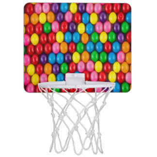 Multi color, gum, candy,big,fun,happy,girly,trendy mini basketball hoop