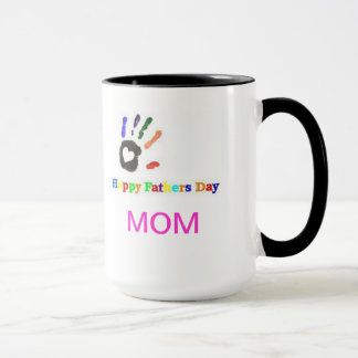 Multi-Color Happy Fathers Day Mom Mug