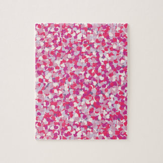 multi Color Heart Confetti2 Jigsaw Puzzle
