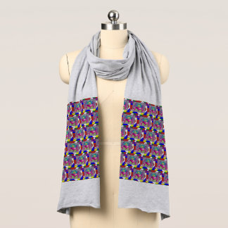 Multi Color Hearts Scarf
