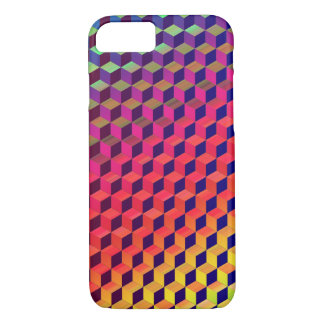 Multi color Isometric Cube Pattern iPhone 7 Case