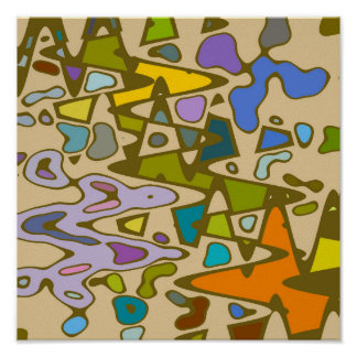 Multi Color jigsaw Poster